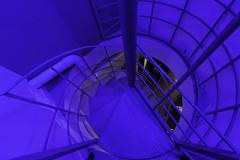 ellipse en couleur (Rudy Pilarski) Tags: ellipse nikon nikkor abstract abstrait blue bleu color couleur city colour ciudad courbe structure escalier france francia europe europa 1020 d7100 architecture architectura architectural urban urbano urbain