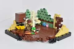 N U K E T O W N (WG Productions) Tags: lego indiana jones nuketown moc fridge scene brown hat kingdom crystal skull nuke bomb town desert