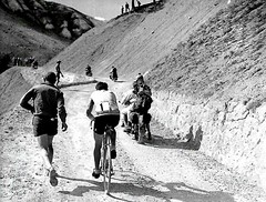 1954 TDF Bobet on the Izoard (Sallanches 1964) Tags: yellowjersey louisonbobet tourdefrance 1954 mountainstage tourdefrancewinners no1 izoard othertimescycling lagrandeboucle
