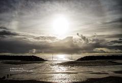 Sun Dog (rick hathaway photography) Tags: rhfo2o canon canoneos7d elmer elmersands beach sea seaside sky sand waves horizon seadefences sun clouds