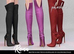 "Phedora. for Kustom9​ - ""Rena"" boots ♥ (Celena Galli ~ phedora.) Tags: sl secondlife second life phedora 3d mesh shoes brand heels platforms shoewear womenswear pumps woman women sexy sassy stylish classy cute chic kinky kawaii fashion event monthly events original content 100mesh new release newrelease meshbody hud multihud maitreya lara belleza isis freya slink hourglass physique shopping shopaholic shappaholic straps ankle booties streetwear cuffs ankleboots urban funky heel strappy style strappyheels kinkyyy avatar female femaleavatar femaleavi footwear metallic boots cozy winter warm"