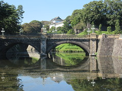 Tokyo Imperial Palace (SqueakyMarmot) Tags: travel asia japan tokyo imperialpalace moat bridge reflections