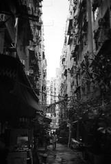 To Kwa Wan, Hong Kong (a.pierre4840) Tags: olympus xa 35mm f28 35mmfilm ilford ilfordhp5 hp5 hp5plus bw blackandwhite monochrome noiretblanc streetphotography hongkong alley alleyway alleyways alleys urban decay kowloon