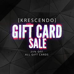 [Kres] Black Friday Sale! ([krescendo]) Tags: blackfridaysale sale giftcard giftcardsale kres krescendo secondlife sl