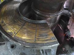Resize of P1360507 (OpalStream) Tags: rudder marine vessel repair works overhauling workshop measurements filler gauge dirt