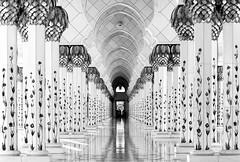 Sheik Zayed Mosque (HWHawerkamp) Tags: abu dhabi uae travel monochrome sheik zayed mosque