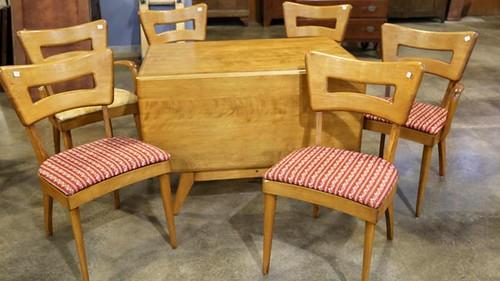 Haywood Wakefield drop leaf table ($560.00)