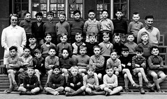 Class photo (theirhistory) Tags: boy child kid school class form pupils jacket trousers wellies shoes wellington teacher
