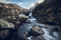 Falls at Ogwen (kris shaw) Tags: wales snowdonia anglesey northwales waterfalls mountains travel longexpo seascape sunset sunrise cymru lakes trfan snowdon penmon