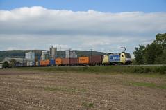 MRCE ES 64 U2 008 (BoxXpress) Karlstadt 01/10/2012 (stefano.trionfini) Tags: train treni bahn zug db mrce es64 boxepress germania germany