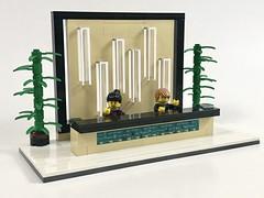 MOC - Lobby / Front Desk (wooootles) Tags: lego moc legomoc legoarchitecture architecture interior interiordesign lobby lounge frontdesk hotel legohotel