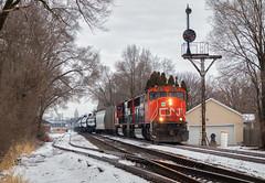 K440 - Troy, OH (Wheelnrail) Tags: cn canadian national train trains emd sd75i locomotive railroad rail road rails csx csxt troy ohio cpl bo signal signals urban city siding k k440 ethanol