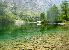 The pros and cons of sunscreen (evakatharina12) Tags: obersee königssee berchtesgaden bavaria germany alps alpine lake water boathouse reflection nature outdoors summer mountains