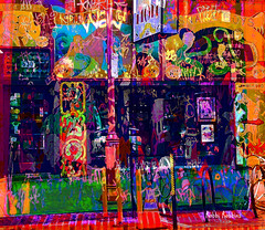 Tattoo Mom's (brillianthues) Tags: philadelphia urban south street city graffiti colorful collage photography photmanuplation photoshop
