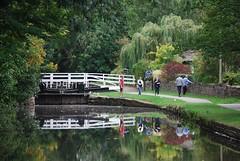 Ganny Lock (Halliwell_Michael ## Offline mostlyl ##) Tags: brighouse calderhebblecanal westyorkshire nikond40x 2018 trees reflections reflection lock locks towpath