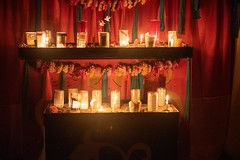 20181031_0020_1 (Bruce McPherson) Tags: brucemcphersonphotography allsoulsinmountainview remembering halloween shrines candles rain heavyrain night nightphotography lowlightphotography rememberingthosewhohavegonebeforeus cemetery colourful candlelight mountainviewcemetery vancouver bc canada