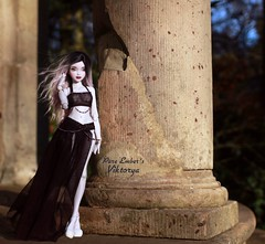Pillars (pure_embers) Tags: pure embers bjd msd 14 doll dolls uk youpladolls vana youpla girl viktorya pureembers embersviktorya photography photo ball joint white purple resin portrait greek temple pillars
