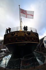 SS Great Britain (charliejb) Tags: stern ssgreatbritain whiteensign flag steamship tallship isambardkingdombrunel brunel 2018 christmas victorianchristmas