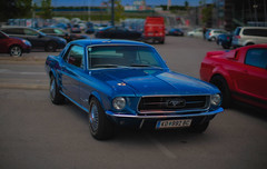 Ford Mustang (try...error) Tags: uscar us car usa europe blue hour available light night classic nightshot canon 5d 1250 blau