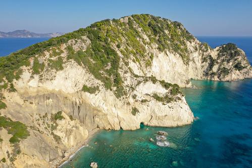 Aerial of Marathonisi island Zakynthos Greece