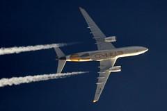 Etihad Airways Airbus A330 A6-EYH (stephenjones6) Tags: jet plane aircraft civil aviation blue sky airbus a330 a330200 etihad airways a6eyh ott highaltitude extremespotting nikon d3200 telescope dobsonian skywatcher msn729 a330243 chemtrail contrail vapour vapourtrail