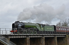 Crossing the River Nene (simmonsphotography) Tags: railway railroad nenevalley heritage preservation locomotive engine train steam uksteam 60163 tornado peppercorn a1 lner pacific newbuild wansford