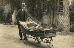 Blighmont Hospital, Southampton (robmcrorie) Tags: blighmont hospital regents park southampton handcart wicker trolley wounded soldier military army vad red cross first world war ww1 1918 1914 medical history