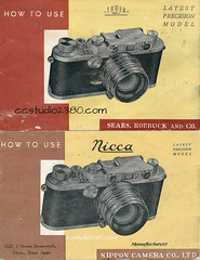From around 1951 - Nicca and Tower (http://www.yashicasailorboy.com) Tags: nicca towercamera camera booklets 1951 japan sears rangefinder 35mm type3 typeiii