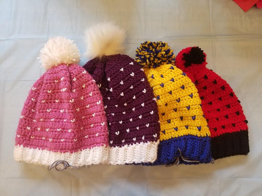 577c4f6ba5f 20181103 150321 (doodlebugmom11) Tags  crochet hats crochethat pink yellow  red black purple blue · Chevron hat ...