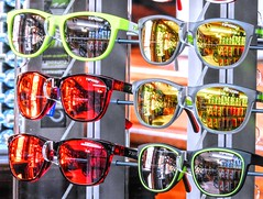 Shades (clarkcg photography) Tags: shades glasses sunglasses reflections bikes bicycles color saturated saturatedsaturday