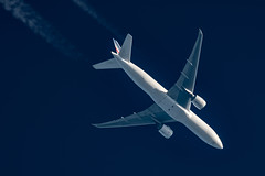 Air France Cargo Boeing 777-F28 F-GUOB (Thames Air) Tags: air france cargo boeing 777f28 fguob contrail telescope dobsonian contrails overhead vapour trail
