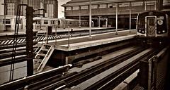 Coney Island Subway Terminal (Robert S. Photography) Tags: terminal subway station tracks brooklyn coneyisland stillwellave nyc sepia sony dscwx150 iso100 november 2018
