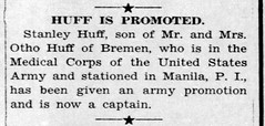 1946 - Stanley Huff promoted to captain - Enquirer - 24 Jan 1946