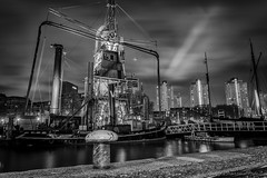 Old Harbor at  Rotterdam_ (Rudaki1959) Tags: walking watch wideangle walk exposure explore eye reflections road tryouts time traditions tourisme urban outdoor outdoors buildings autumn a7m3 sonya7iii a7iii season skies sky dagje day historical harbor lights longexposure light landscape landscapes city cityscape netherlands