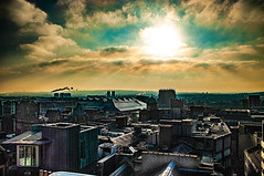 Eye In The Sky (Brian Travelling) Tags: scotland pentax pentaxk20d glasgow eye sky skyline sun clouds cloud interesting outdoors outdoor