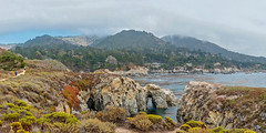 Panoramic: Point Lobos State Natural Reserve (mon_ster67) Tags: pointlobos ptlobos ca mon ©mon canon overcast mists fog chinacove pointlobosnaturalreserve sigma hike hiking panoramic panorama cave coast coastline ocean westcoast cacoast california hikingtrail coastal