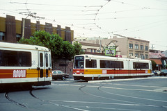 Muni #1240 & 1242 (Jim Strain) Tags: jmstrain trolley tram streetcar muni sanfrancisco lightrail transit commuter california