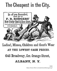 1869 FB Rodgers' New Parlor Boot & Shoe Store (albany group archive) Tags: albany ny history 1869 fb rodgers new parlor boot shoe store apparel men women children 646 broadway clothing 1860s old historic historical photos photographs pictures vintage