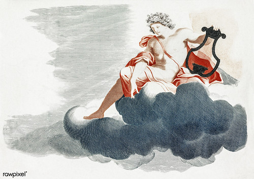 Apollo on the Clouds (1688-1698) by Johan Teyler (1648-1709). Original from The Rijksmuseum. Digitally enhanced by rawpixel.