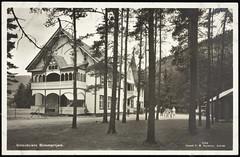Postkort fra Agder (Avtrykket) Tags: bygg hotel hus pensjonat postkort rutebil sommerpensjonat uthus bygland austagder norway nor