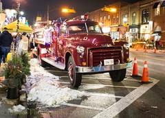 Trucks in The Night (HTT) (13skies (Physio)) Tags: firetruck truck save night savinglives history older classic htt truckthursday downtown redt street lights happytruckthursday
