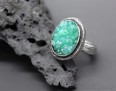 Mint druzy ring Sterling silver and mint green druzy Quartz ring - Lindelle (Arctida) Tags: jewelry jewellery druzy ring sterling silver engagement textured pattern nature branch twig woodland grain tree bark wiccan pagan entwined gemstone statement bohemian ooak boho chic wedding simple viking ancient mid century tribal line artwork artisan shop designer europe handmade handcrafted scandinavian sweden eco friendly new age elven elvish fantasy organic rustic heavy piece everyday apparel wear high shine shopping luxury outfit collection big large vintage massive carved fashion classic look style mint green teal emerald
