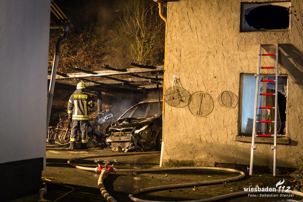 Mehrere Kleinbrände Im Rheingau Taunus Kreis Carport Brand In