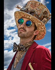 Mad Hatter (Whitney Lake) Tags: edwardian victorian costume fantasy vintage retro missouri hannibal cosplay streampunk