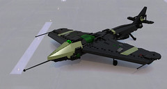 """Pin II"" Stealth Fighter (Garry_rocks) Tags: lego stealth fighter plane"