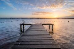 Bream Lake (martijnvdnat) Tags: meer zonsopkomst aanlegsteiger braasemermeer braassem horizon ochtend piertje reflectie roelofarendsveen steiger water