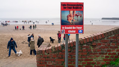 Take Responsibility (stevedexteruk) Tags: porthcawl wales coneybeach sandybay 2018 christmasswim christmasday porthcawlswim swim dog dogs people seaside beach sea christmas rubbish warning sign