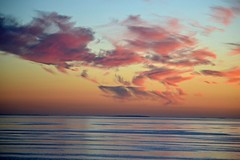 Gulf of Finland Sunset (Seventh Heaven Photography *) Tags: gulf finland water sea sunset dusk sky clouds nikon d3200 red orange blue reflections