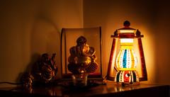Ganpati_Buddha (Saurabh Gautam) Tags: lights buddha ganesha festivals festivities nikon nikkor nikond90 d90 50mm india