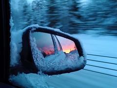 Nyårslöfte (Annica Spjuth) Tags: fs190113 fotosondag nyarslofte backspegel framtidsresa soluppgång vintermorgon